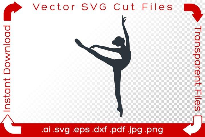 Acrobat Woman SVG Black Gymnast Silhouette Dancer Cut Files