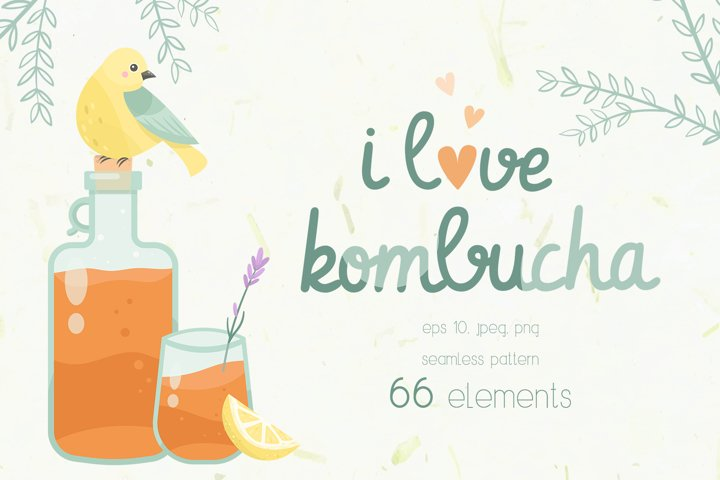 Kombucha tea fermented probiotic