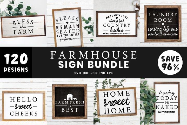 Farmhouse Sign Bundle Svg | 120 Mega SVG Bundle