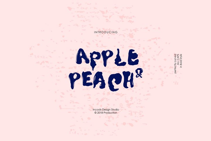 Apple and Peach - Bold