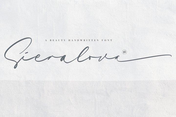 Sieralova - A Beauty Handwritten Font