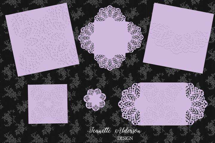 Lacey Petal Card cutting file