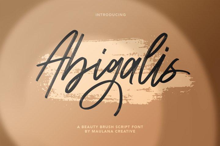 Abigalis Beauty Brush Script Font