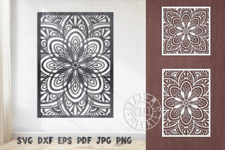 SVG file of Mandala decorative wall panel for home decor.