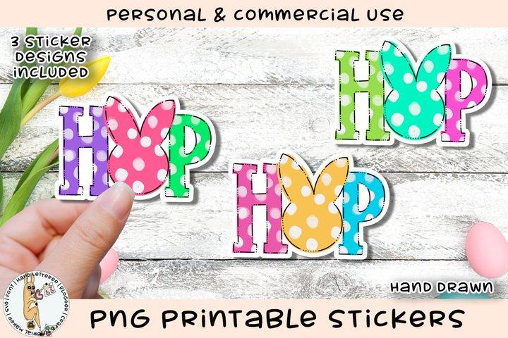 HOP Bunny Printable Stickers