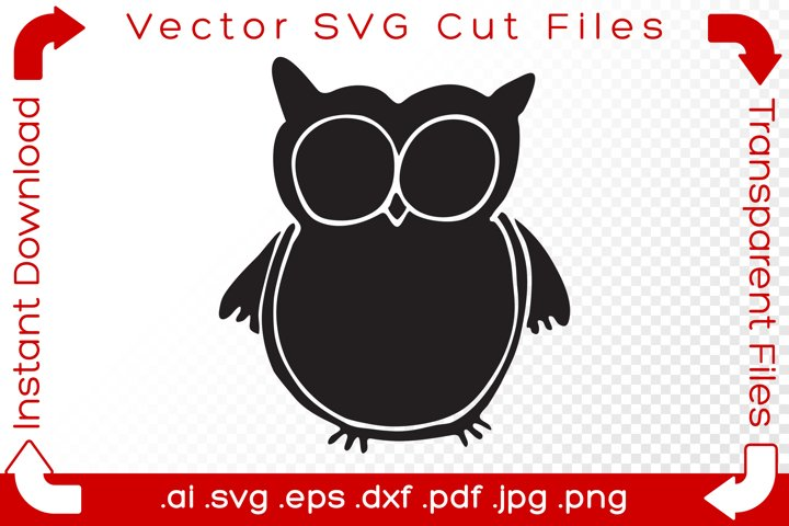 Owl SVG Doodle Clipart Vector Cut Files example