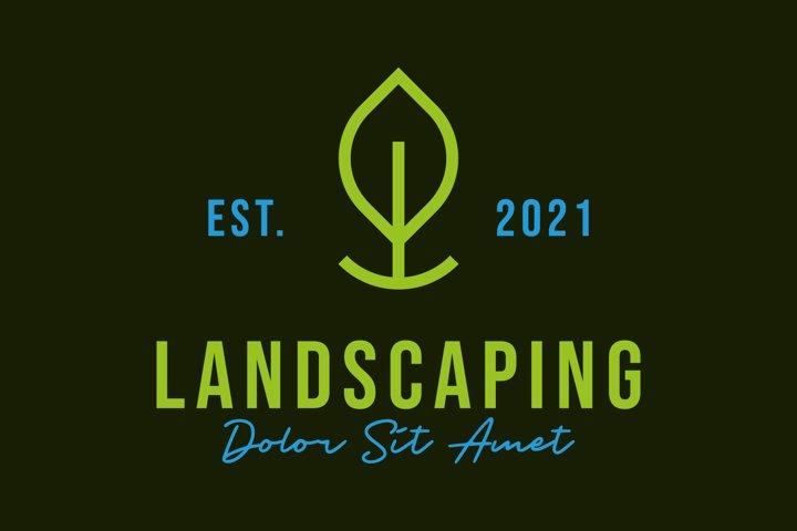 Landscaping logo design concept vector