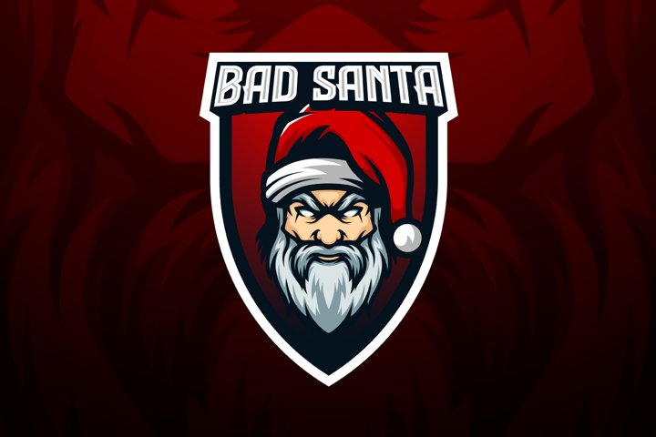 Bad Santa Mascot Vector Template