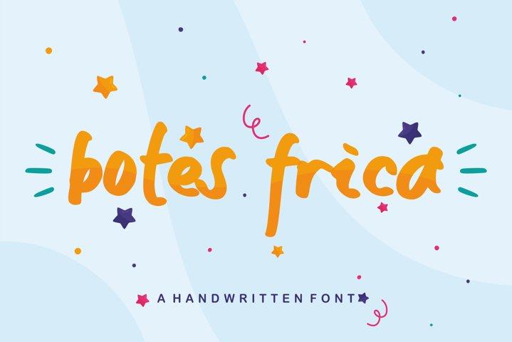 Botes Frica - A handwritten Font