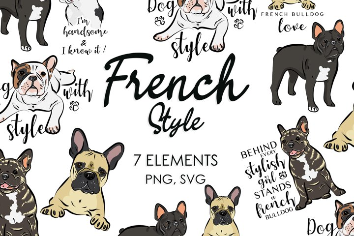 Svg Files, Svg Bundle, French Bulldog, Dog Breeds, Dog Svg