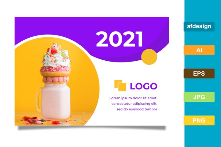 Food Color Theme 2021 Calendar Template