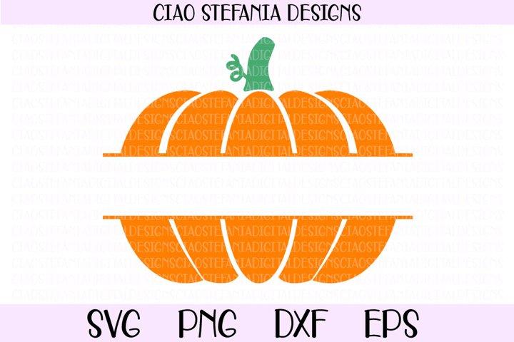 Pumpkin Split Monogram Fall SVG Cut File