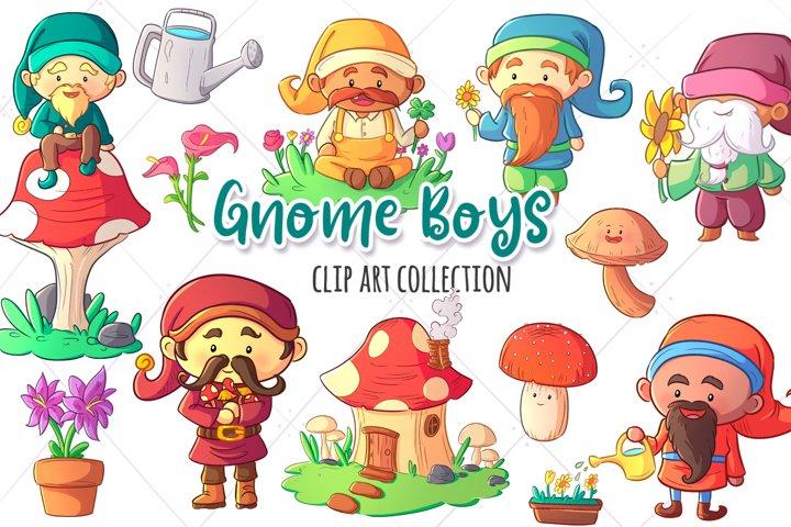 Gnome Boys Clip Art Collection