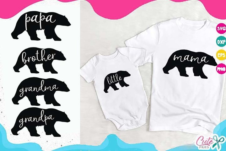Family Bear svg cut file for crafters