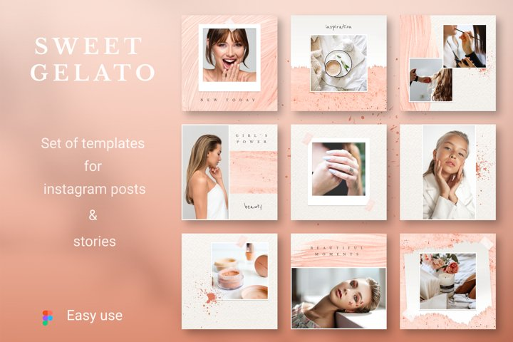 SWEET GELATO Instagram Templates