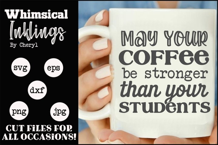 Stronger Than Your Students-Teacher SVG