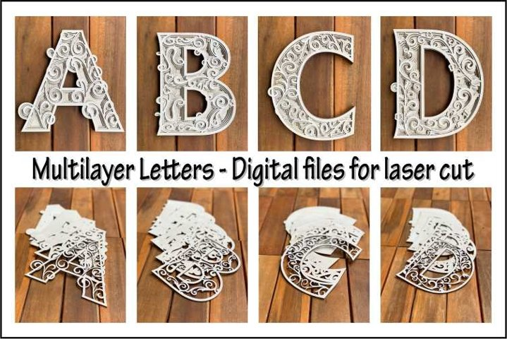 Multilayer PACK, Full alphabet A-Z