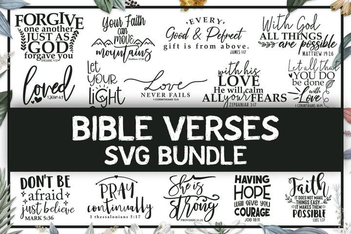 Bible Verses SVG Bundle, Religious Quotes Cut Files