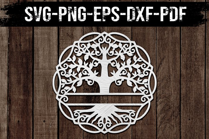 Customizable Family Tree Paper Cut Template, SVG, DXF, PDF