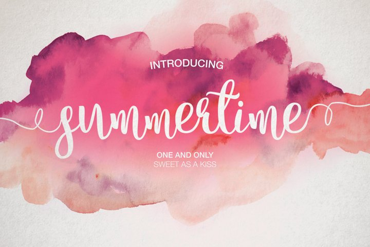 Summertime - Free Font of The Week Font