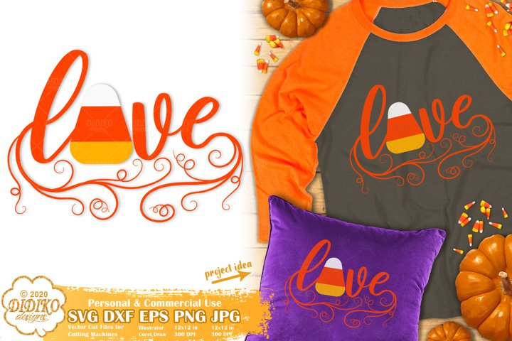 Halloween SVG | Candy Corn SVG | Halloween Love SVG