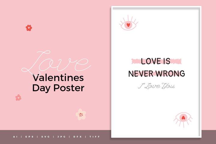 Valentine Day SVG Poster - Vol.01