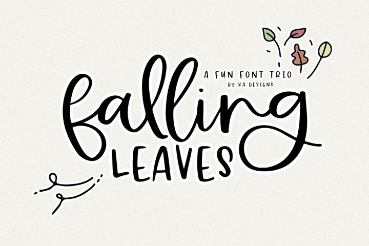 Falling Leaves - A Font Duo with Doodles