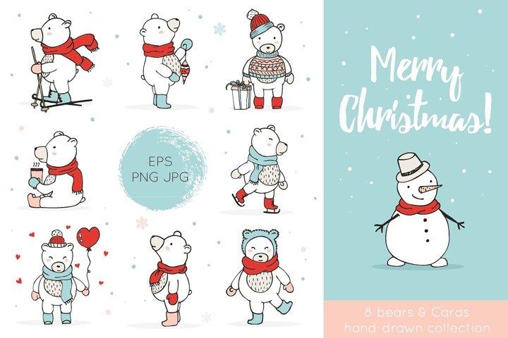 Christmas Bears Icons & Cards