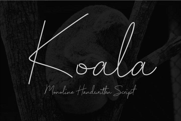 Koala - Monoline Handwritten Script