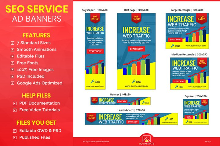 SEO Ad Banner Template - Professional Service Banners