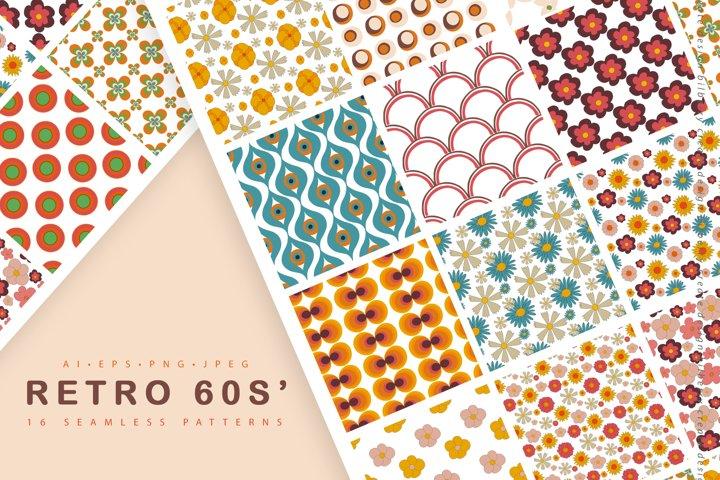 Retro 60s seamless pattern