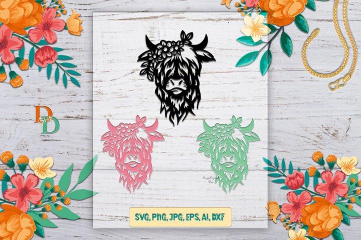 Highland Cow Print, Highland Cow SVG, Highland Cow Wall art