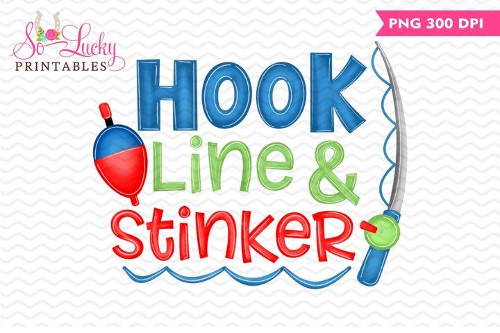 Hook Line & Stinker printable sublimation design