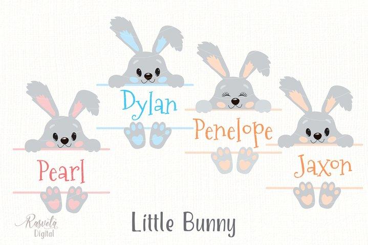 Cute Little Easter Bunny Clipart 6