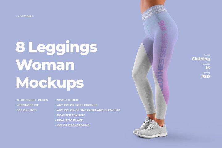 8 Mockups Women Leggins