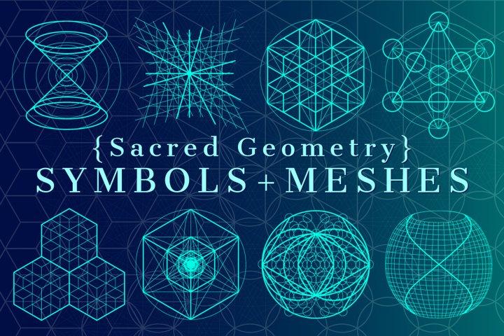 {Sacred Geometry} Symbols + Meshes