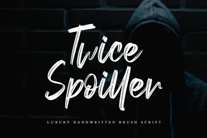 Twice Spoiller Brush Script