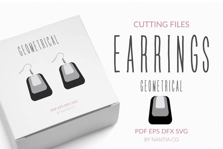 Earrings geometrical cutting files