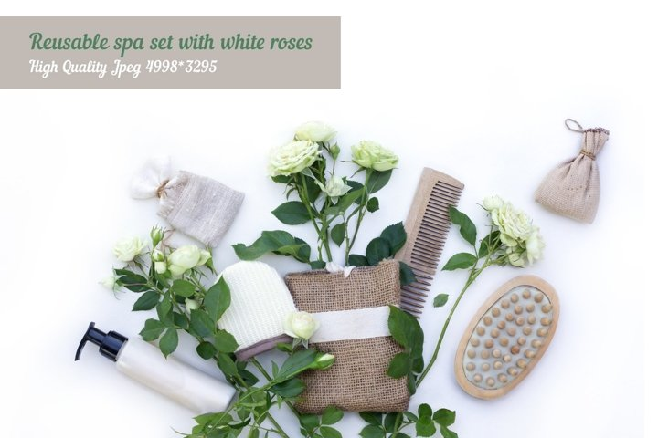 Eco set of spa accessories and massage brushes