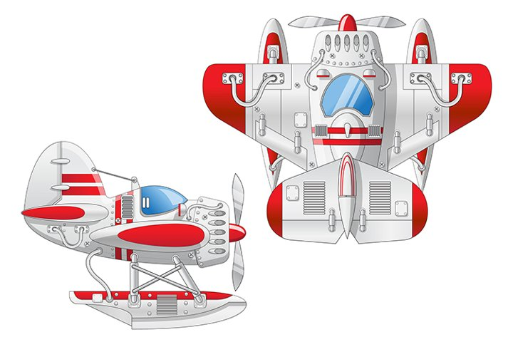 Amphibian seaplane.