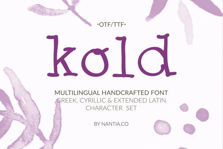 Cute Serif Cyrillic handwritten Font | Kold