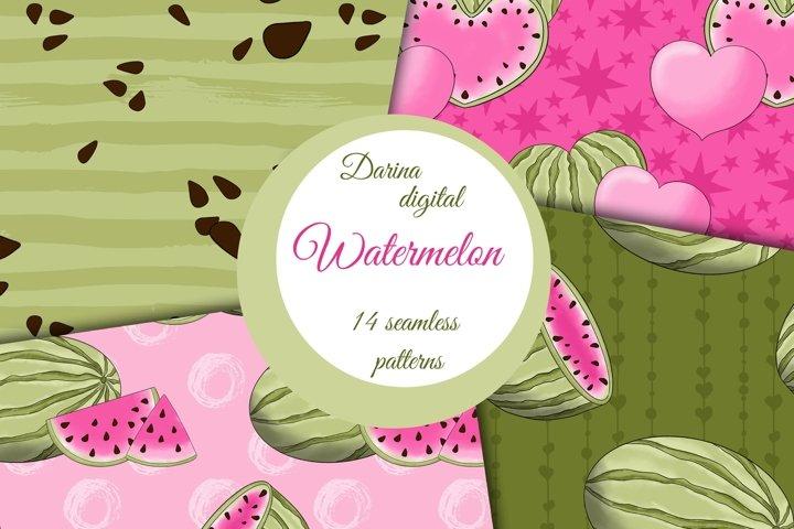 Pink watermelon patterns