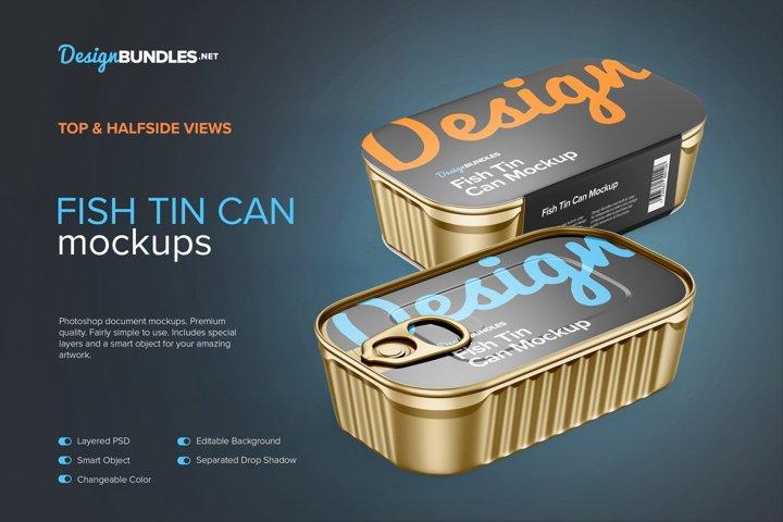 Four Fish Tin Can Mockups example