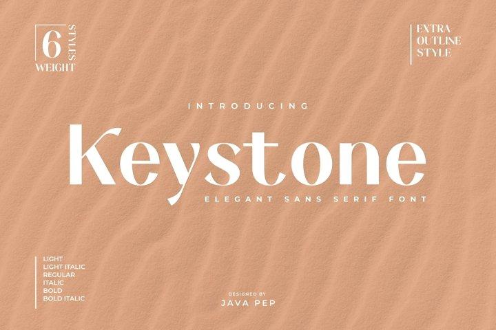 Keystone - an elegant sans