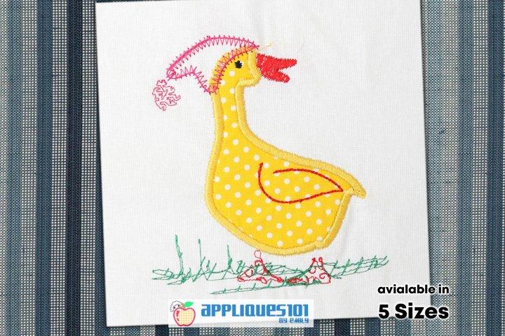 White Duck Embroidery Applique Design - Birds