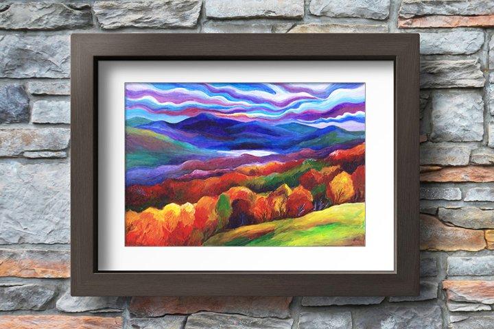 Fantasy Autumn Landscape - Printable Wall Art