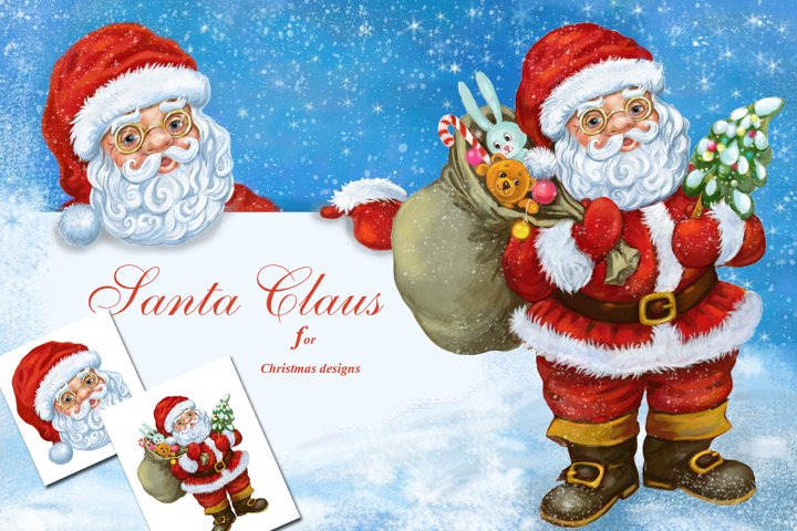 Santa Claus Clipart PNG, Christmas Clipart Png,