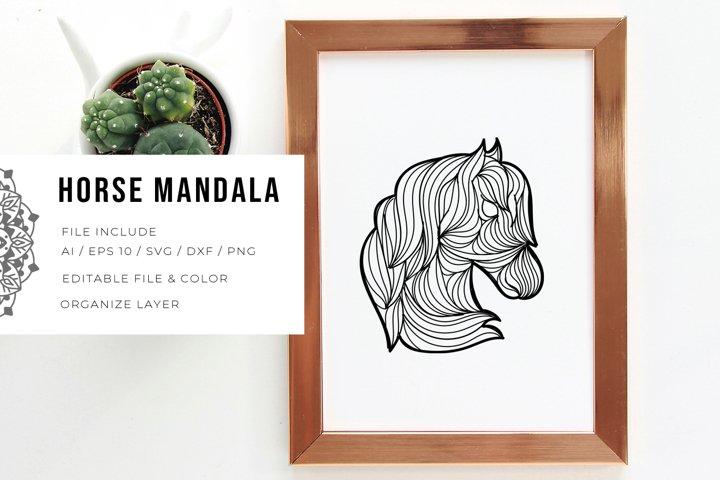 Horse Mandala   SVG