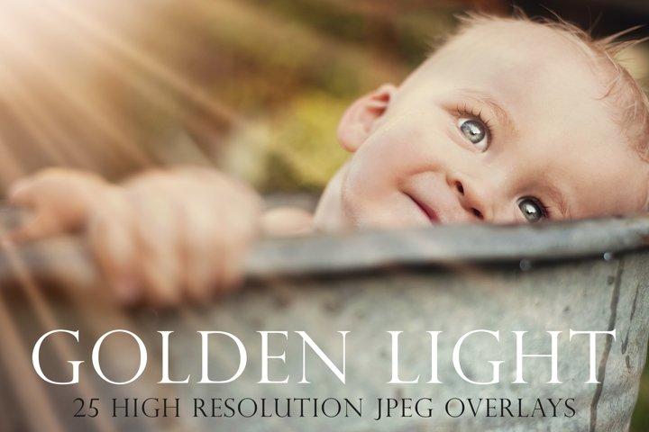 Golden light photoshop overlays