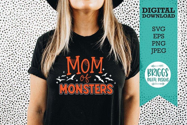 Mom of Monsters SVG | Halloween Mom SVG | Halloween SV